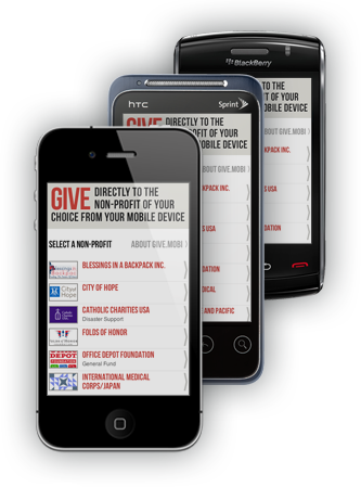 Give via your mobile phone in an instant